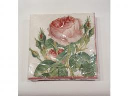 Serviette Redoute Rose